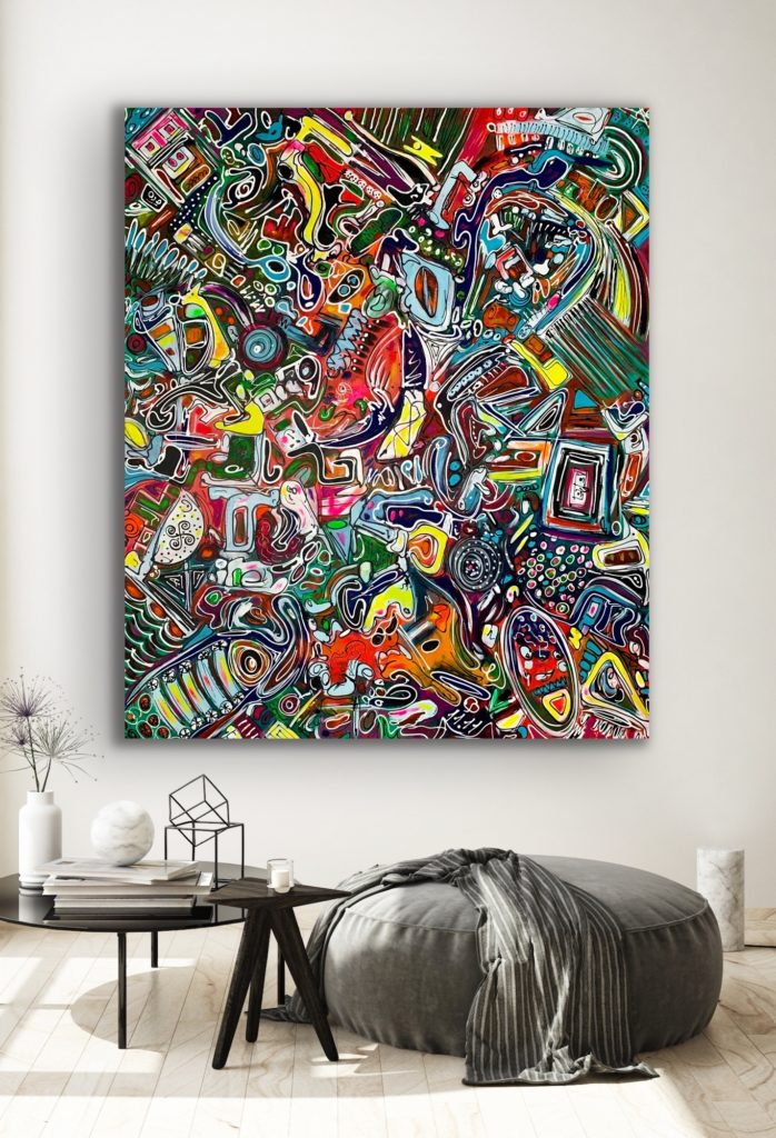 """78""""X65""""(200X165CM), Life in Colors 20 , Bright COLORS, extra large"""