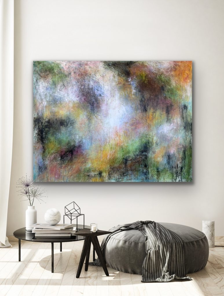 """78""""X65""""(200X165CM), Magnificent Earth 27 , blue, green, texture,black, white, extra large"""