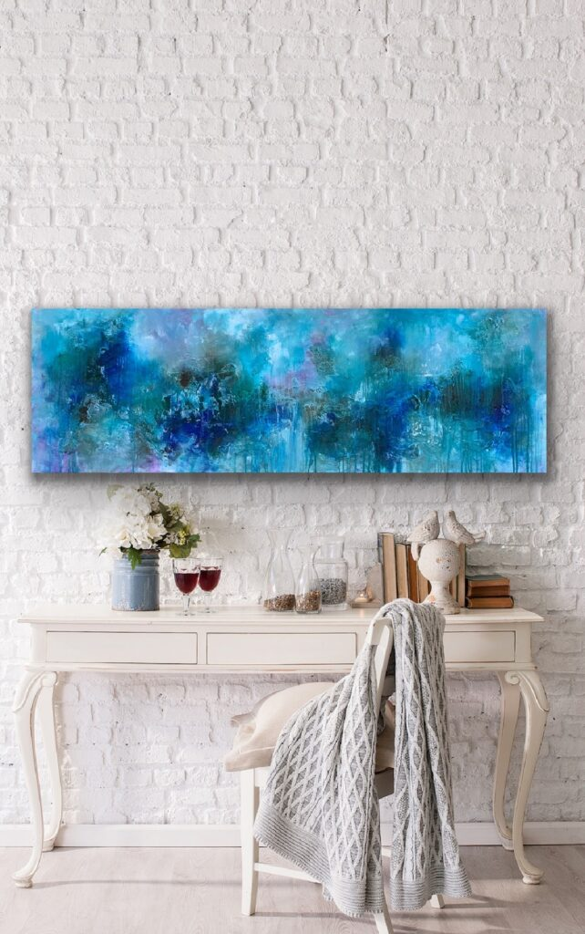 Magnificent Earth 59, 59″x 20″(150x50cm), art canvas painting, art, home painting, colorful art