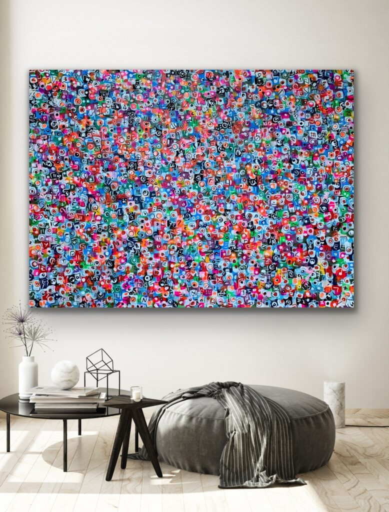 LIFE IN COLORS 38, Bright COLORS, original extra large pop art on canvas