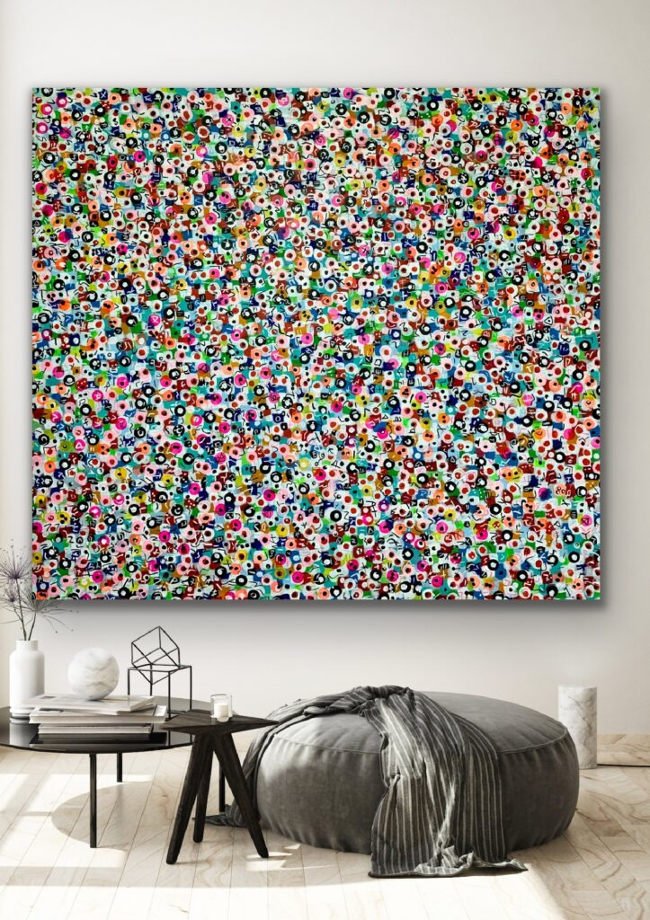 """78""""X67""""(200X170CM), Life in Colors 39 , Bright COLORS, extra large"""