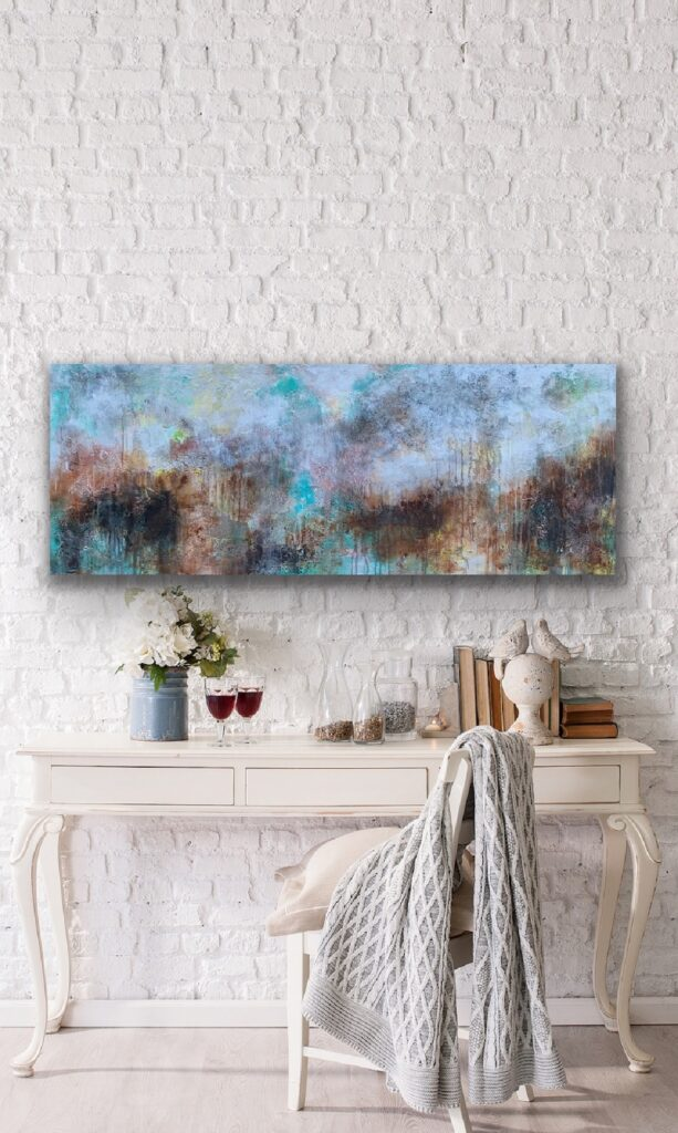 MAGNIFICENT EARTH 72, 2020, ready to hang, 59″x 23'5″(150x60cm), urban canvas painting , art, home painting