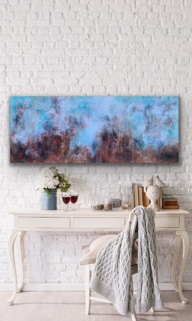 MAGNIFICENT EARTH 74, 2020, ready to hang, 59″x 23'5″(150x60cm), urban canvas painting , art, home painting