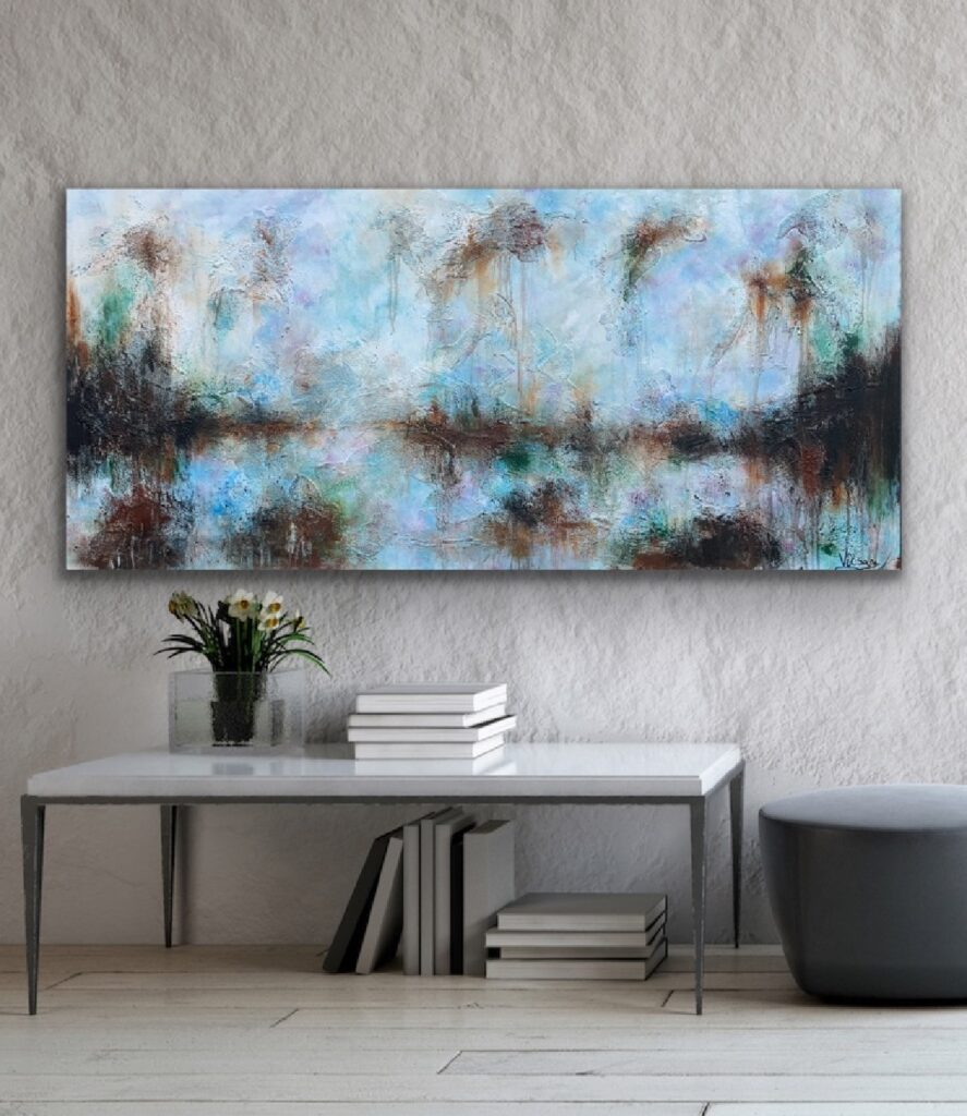 MAGNIFICENT EARTH 79, 2021, ready to hang, urban canvas painting , art, home painting