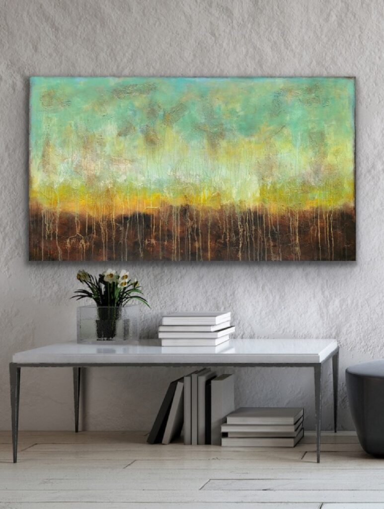 MAGNIFICENT EARTH 78, 2021, ready to hang, urban canvas painting , art, home painting