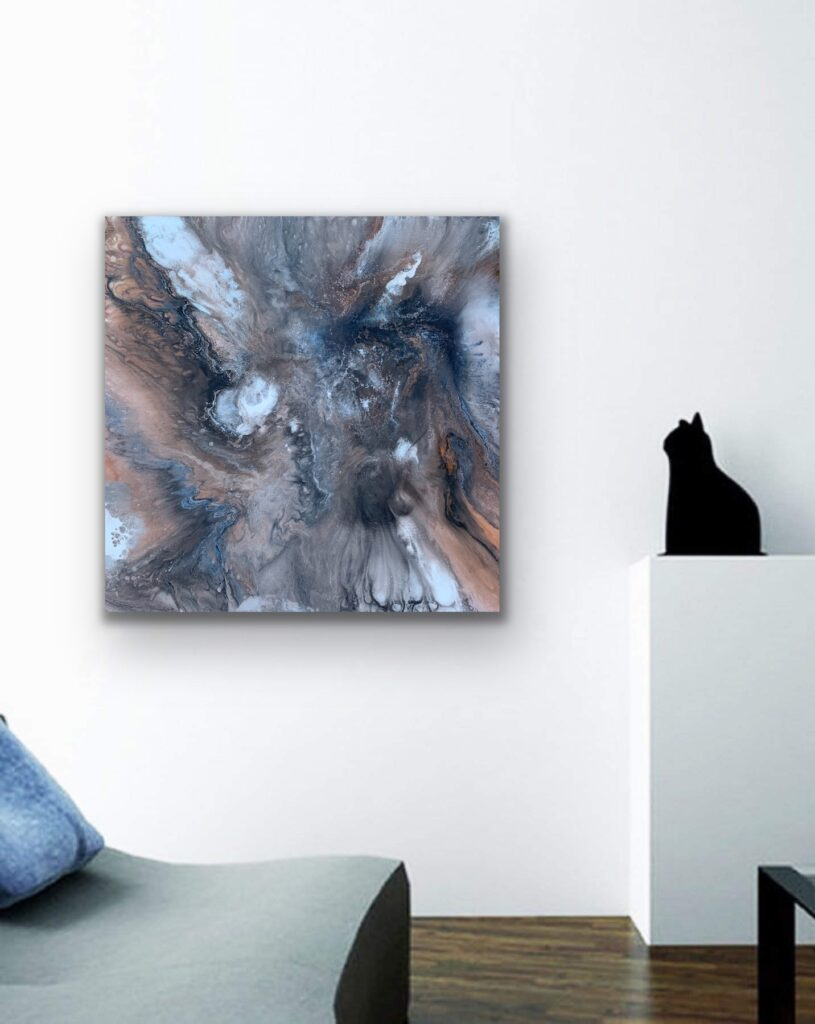Mother Earth 4, nature grey urban pop art canvas painting, art, home painting, colorful art