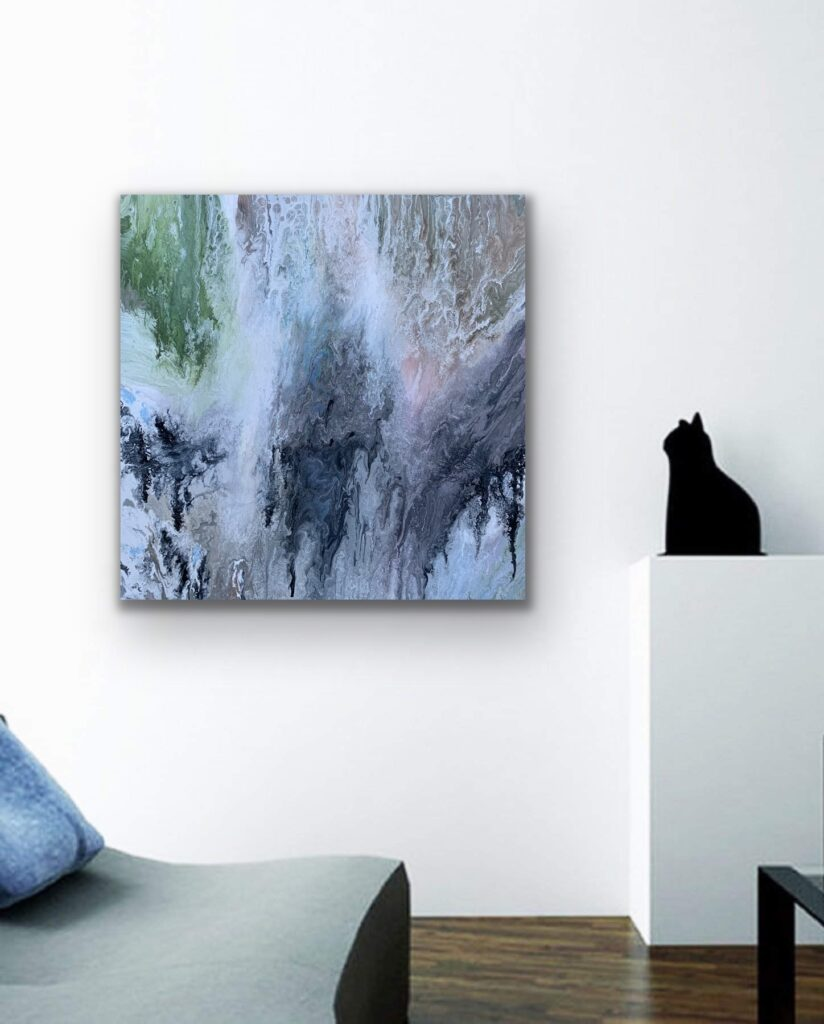 Mother Earth 2, nature grey  urban pop art canvas painting, art, home painting, colorful art
