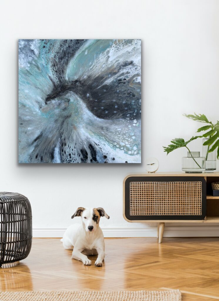 Mother Earth 7, nature grey urban pop art canvas painting, art, home painting, colorful art