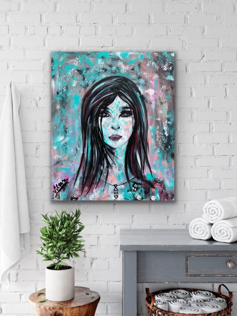 Anita, 50x60cm, woman portrait, lady, girl painting