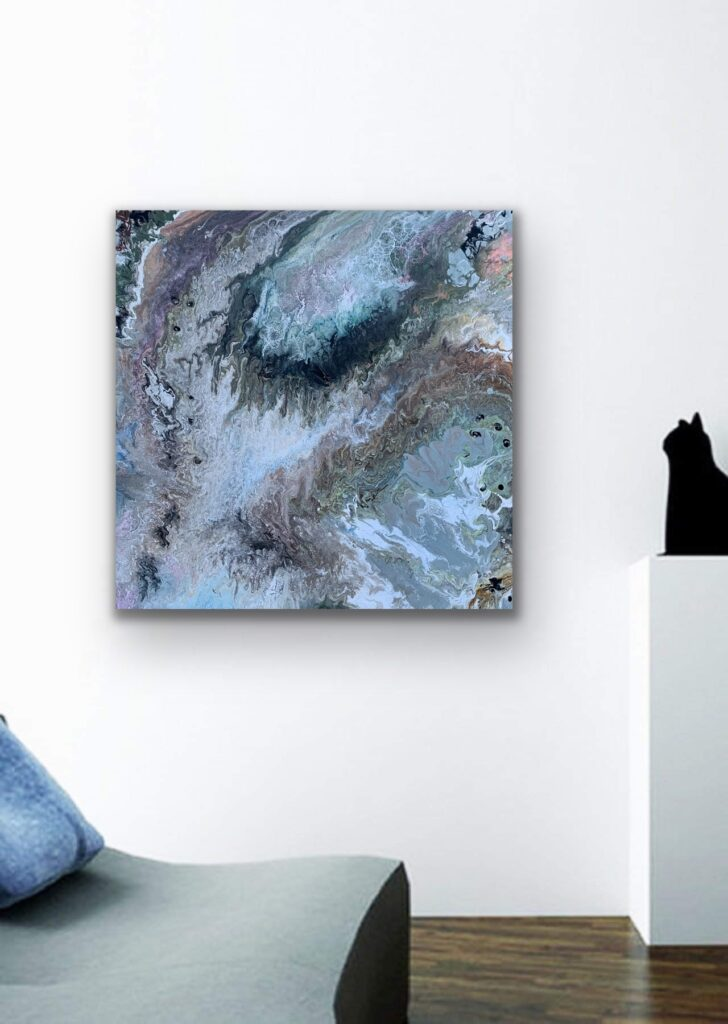 Mother Earth 5, nature grey urban pop art canvas painting, art, home painting, neutrals